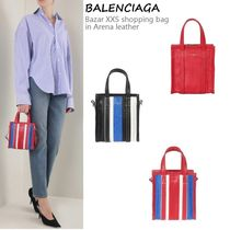 VIP価格!BALENCIAGA Bazar XXS shopping bag in Arena leathe♪