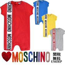 18SS☆Moschino★バナーロゴ半袖ショートロンパース