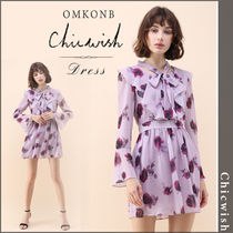 【国内発送・関税込】Chicwish★Reddish Rose Chiffon Dress