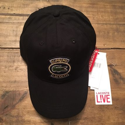 Supreme キャップ 9 week SS18 Supreme LACOSTE Twill 6-Panel(2)