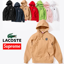 9 week SS18 Supreme LACOSTE Hooded Sweatshirt