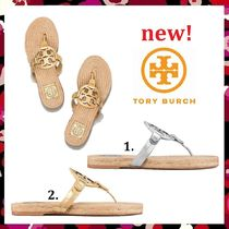 新作 セール Tory Burch 人気 Miller Espadrille Leather Sandal