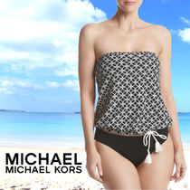 Michael Kors マイケルコース Rope Pattern Tie Hem Bandini Top