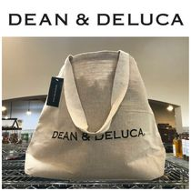 【DEAN&DELUCA】●大人気●Natural Cotton Jute Tote-Large