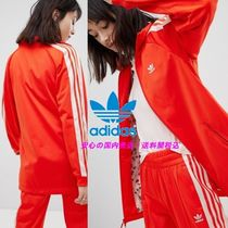 adidas Originals Track Jacket In Red And Pink♪