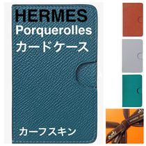 【HERMES】Porquerolles card holder カードケース カーフスキン