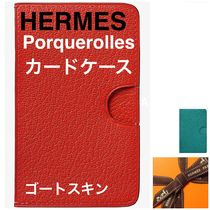 【HERMES】Porquerolles card holder カードケース ゴートスキン