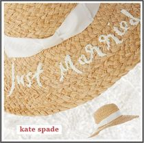 kate spade★just Married 刺繍 ストローハット
