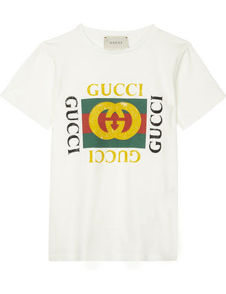 GUCCI キッズ用トップス ☆GUCCI☆ MINI ME 大人気ヴィンテージロゴTシャツ♪ 4A〜8A (2)
