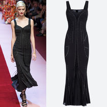 18SS DG1544 LOOK52 SILK MERMAID DRESS WITH LACE UP DETAIL