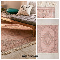 UO★Stina Floral Space Dyed Printed Rug ★61×91cm