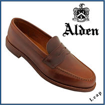 【ALDEN】UNLINED LEISURE HANDSEWN  オールデン  レザー 茶★
