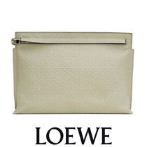 LOEWE T Pouch Repeat Stone カーフスキン 完璧なモダンクラッチ