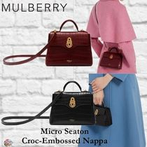 Mulberry☆Micro Seaton -Croc Embossed Nappa- クロコ柄
