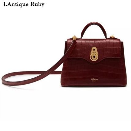 Mulberry ショルダーバッグ・ポシェット Mulberry☆Micro Seaton -Croc Embossed Nappa- クロコ柄(2)