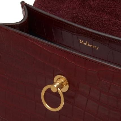 Mulberry ショルダーバッグ・ポシェット Mulberry☆Micro Seaton -Croc Embossed Nappa- クロコ柄(6)