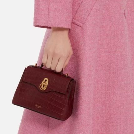 Mulberry ショルダーバッグ・ポシェット Mulberry☆Micro Seaton -Croc Embossed Nappa- クロコ柄(8)