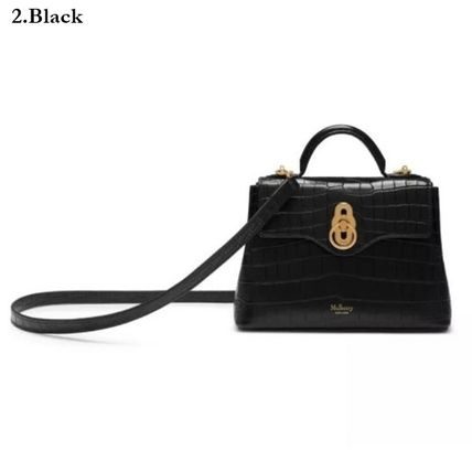 Mulberry ショルダーバッグ・ポシェット Mulberry☆Micro Seaton -Croc Embossed Nappa- クロコ柄(9)