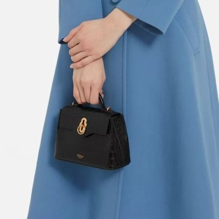 Mulberry ショルダーバッグ・ポシェット Mulberry☆Micro Seaton -Croc Embossed Nappa- クロコ柄(15)