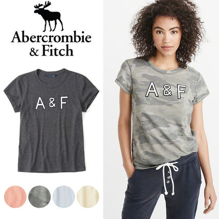 Abercrombie & Fitch Tシャツ・カットソー 送料込み☆レディース アップリケTシャツ【LOGO TEE】