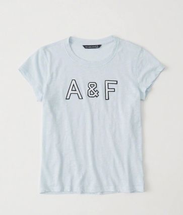 Abercrombie & Fitch Tシャツ・カットソー 送料込み☆レディース アップリケTシャツ【LOGO TEE】(4)