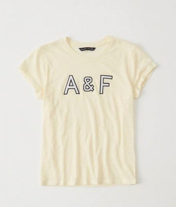 Abercrombie & Fitch Tシャツ・カットソー 送料込み☆レディース アップリケTシャツ【LOGO TEE】(5)