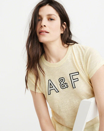 Abercrombie & Fitch Tシャツ・カットソー 送料込み☆レディース アップリケTシャツ【LOGO TEE】(13)