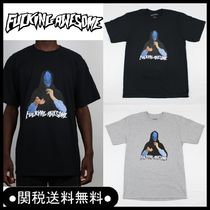 Fucking Awesome(ファッキング オウサム) Tシャツ・カットソー New 18ss☆Fucking Awesome Blue Veil Tシャツ Black/Gray