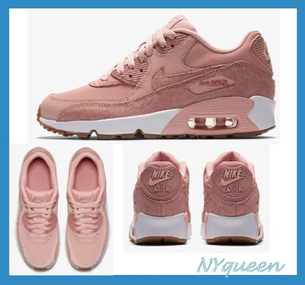 Nike キッズスニーカー  大人もOK ★ NIKE AIR MAX 90 キュート 人気のコーラルピンク
