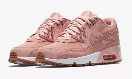Nike キッズスニーカー  大人もOK ★ NIKE AIR MAX 90 キュート 人気のコーラルピンク(4)