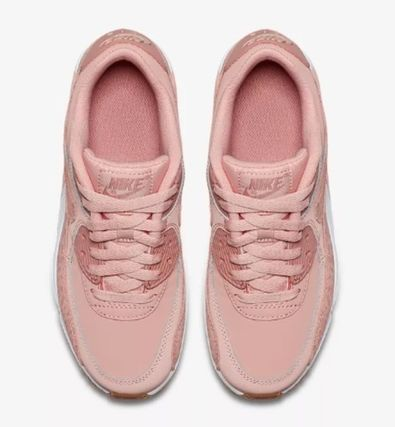 Nike キッズスニーカー  大人もOK ★ NIKE AIR MAX 90 キュート 人気のコーラルピンク(5)