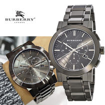 ★安心ヤマト便★Burberry Chronograph Dark Grey Watch BU9354