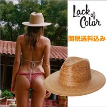 Lack of color パームリーフ・フェドラ ストローハット