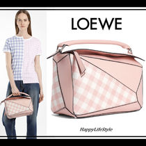 lovely♪◇Puzzle ギンガムチェック バッグ◇LOEWE