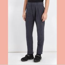 【数量限定】18SS ACNE STUDIOS Boston checked linen trousers