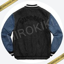 【18SS】Supreme Denim Varsity Jacket デニムジャケット Black