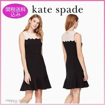 kate spade◆素敵なワンピース◆scallop sleeveless dress