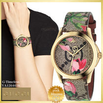 【SALE☆レア】GUCCI G-TIMELESS Pink Blooms YA1264038