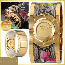 【SALE☆レア】GUCCI Twirl Blooms Bangle Watch YA112443
