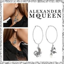 【送関込】Alexander McQueen☆crystal & faux pearl earrings
