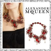 【送関込】Alexander McQueen☆crystal & faux pearl necklace
