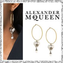 【送関込】Alexander McQueen☆HeartPearl loop earrings ピアス