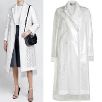 18SS CKP038 BRODERIE ANGLAISE COAT WITH PVC OVERLAY