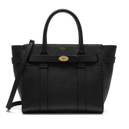 Mulberry トートバッグ 国内発送!! Mulberry(マルベリー)Small Zipped Bayswater #black