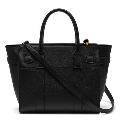 Mulberry トートバッグ 国内発送!! Mulberry(マルベリー)Small Zipped Bayswater #black(2)
