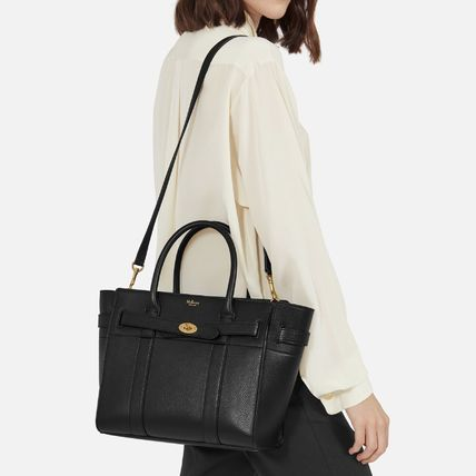 Mulberry トートバッグ 国内発送!! Mulberry(マルベリー)Small Zipped Bayswater #black(4)