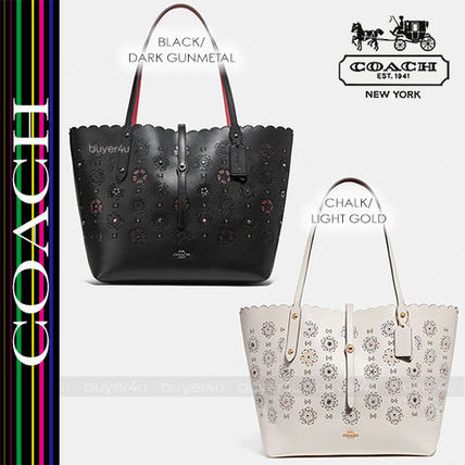 COACH★多用途トート☆MARKET TOTE WITH CUT OUT TEA ROSE 25195