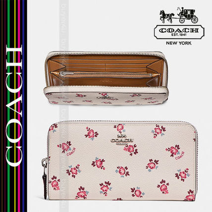 COACH★ACCORDION ZIP WALLET WITH FLORAL BLOOM PRINT 27110