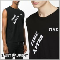 18SS★Saint Laurent ノースリーブ Tシャツ TIME AFTER TIME
