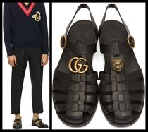 【GUCCI】☆2018SS☆Black Glossy Rubber Sandals☆サンダル